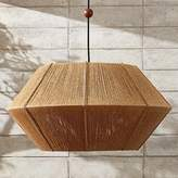 CB2 Love One Another Natural Pendant Light