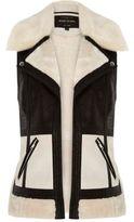 River Island Womens Light cream color block vest