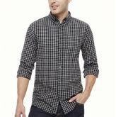 Jf J.Ferrar Long Sleeve Gingham Button-Front Shirt