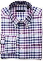 Tommy Hilfiger Men's Non Iron Regular Fit Plaid Dress Shirt