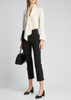 Alice + Olivia Rosina French Cuff Blouse with Tie