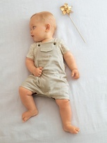 Baby Boy Dungaree & Printed Bodysuit Outfit - beige checks, Baby | Vertbaudet