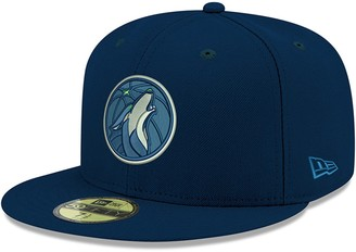 New Era Youth Navy Minnesota Timberwolves Official Team Color 59FIFTY Fitted Hat