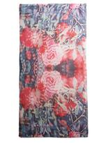 Lily & Lionel Rosa vermillion-print scarf