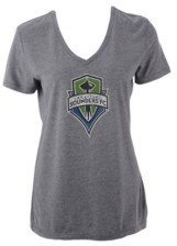 Majestic Seattle Sounders Fc Women's Distressed Logo T-Shirt