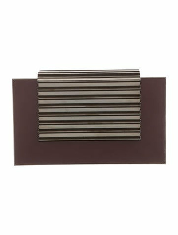 Thumbnail for your product : Lee Savage Brass East Stack Clutch Plum