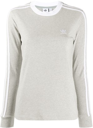adidas Long Sleeve 3 Stripes Sweater