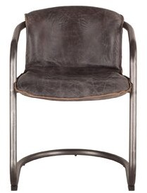 Williston Forge Guzman Genuine Leather Upholstered Dining Chair (Set of 2
