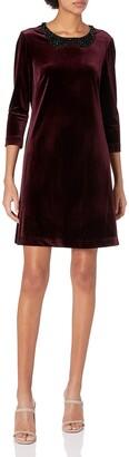 Betsey Johnson Women's The Velvet Dress with Embellished Collar
