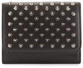 Christian Louboutin Macaron Mini Spikes Wallet, Black
