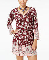 American Rag Printed Peasant Fit & Flare Dress, Only at Macy's