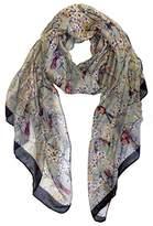 P.R. P & R Women's Print Butterfly Scarves Shawl Large Size18090cm Voile Soft Wraps