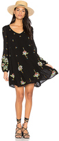 Free People Oxford Embroidered Mini Dress in Black