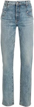 Veronica Beard Ryleigh High-Rise Straight-Leg Jeans