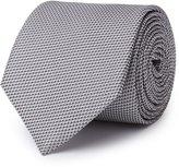 Reiss Bistel - Fleck-detail Silk Tie in Grey, Mens