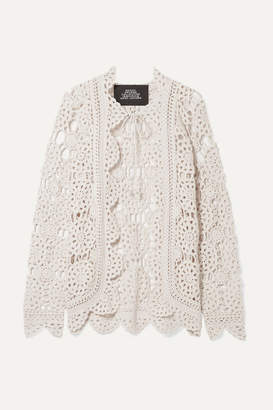 Marc Jacobs Runway Crocheted Cotton Cardigan - Off-white