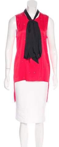 Thomas Wylde Silk Embellished Top w/ Tags