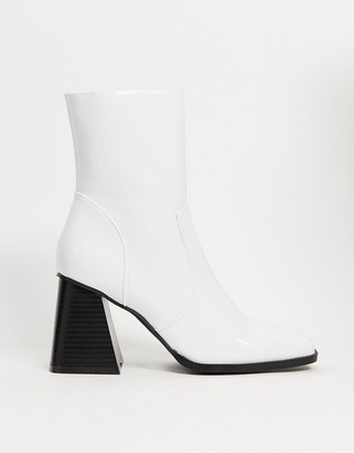 Raid Lorina heeled ankle boots in white