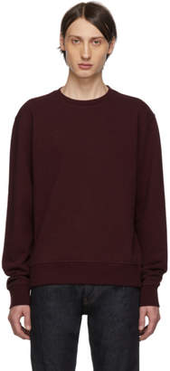 Maison Margiela Burgundy Decortique Elbow Patch Sweatshirt