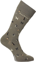 Barbour Mavin Medium Olive Dog Print Socks