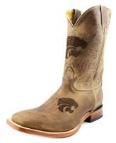 Nocona Ksu Branded Men Square Toe Leather Western Boot.