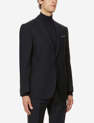 Corneliani Regular-fit wool-hopsack blazer