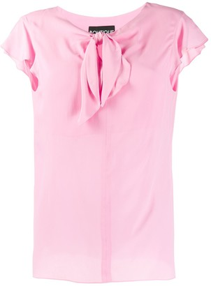 Moschino knot detail blouse
