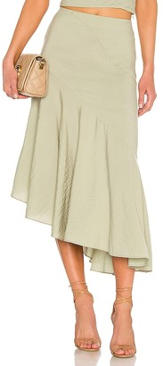 Vince Side Button Tiered Skirt
