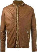 Giorgio Brato round neck zipped biker jacket