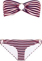 Melissa Odabash Evita striped bandeau bikini
