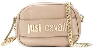 Just Cavalli logo plaque crossbody bag