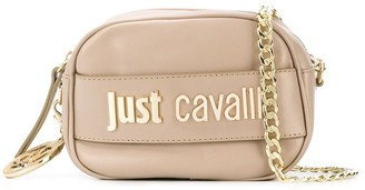 Just Cavalli Logo Plaque Crossbody Bag