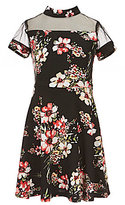 Teeze Me Big Girls Big Girls 7-16 Floral-Printed Fit-And-Flare Dress