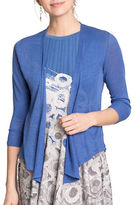 Nic+Zoe PETITE Four-Way Linen-Blend Cardigan with Three-Quarter Sleeves