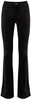 Paige Manhattan Black Bootcut Velvet Jeans
