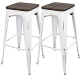 Lumisource Oregon Industrial Barstools (Set of 2)