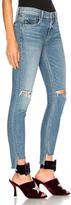 GRLFRND Candice Mid Rise Skinny Jean in Blue.