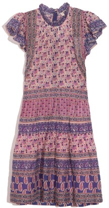 Sea Bianca Tiered Tunic Dress in Violet