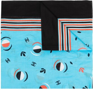 Chanel Pre Owned 1990s CC abstract print scarf