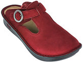 Alegria As Is Suede T-strap Clogs w/ Faux Fur - Classic