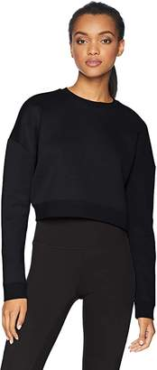 Amazon Brand - Core 10 Women's (XS-3X) Motion Tech Fleece Cropped Sweatshirt