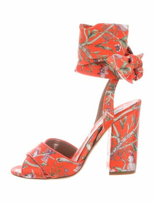 Johanna Ortiz Printed Sandals Orange