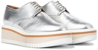 Clergerie Brook leather platform Derby shoes