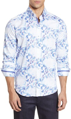 Robert Graham Rhone Faded Paisley Button-Up Shirt