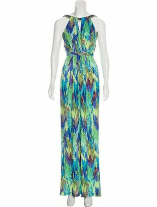 Matthew Williamson Printed Maxi Dress Multicolor