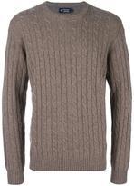 Hackett cable knit jumper