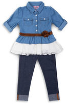 Little Lass Girls 2-6x Two-Piece Denim Legging Set
