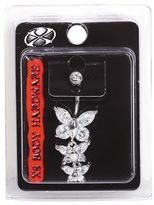 Pacific Piercing Supply Crystal Butterfly 14G Navel Dangle