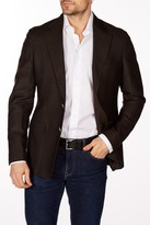 Levinas Charcoal Woven Two Button Notch Lapel Wool Slim Fit Blazer
