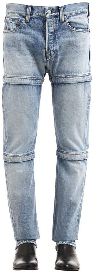 Balenciaga Adjustable Length Cotton Denim Jeans